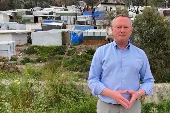 FRA Director at Vathy migration centre