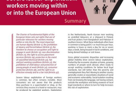 Schwere Formen der Arbeitsausbeutung: Arbeitskräfte aus der EU oder Drittstaaten - Zusammenfassung