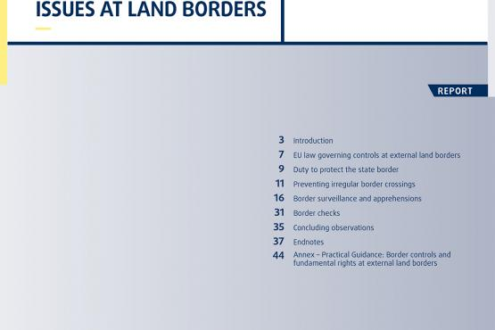 Migration: Fundamental rights issues at land borders