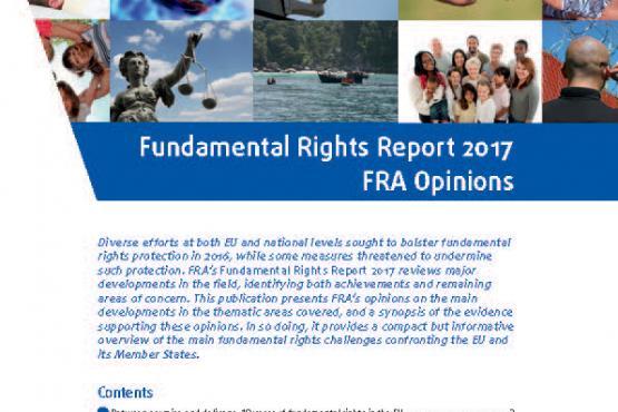 Rapport sur les droits fondamentaux 2017 - Avis de la FRA