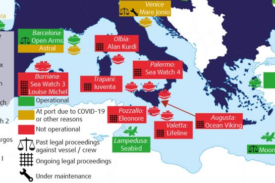 December 2020 update - NGO ships involved in search and rescue in the Mediterranean and legal proceedings against them
