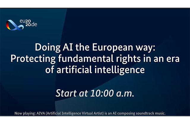 Doing AI the European way – Virtual conference recording – Morning session