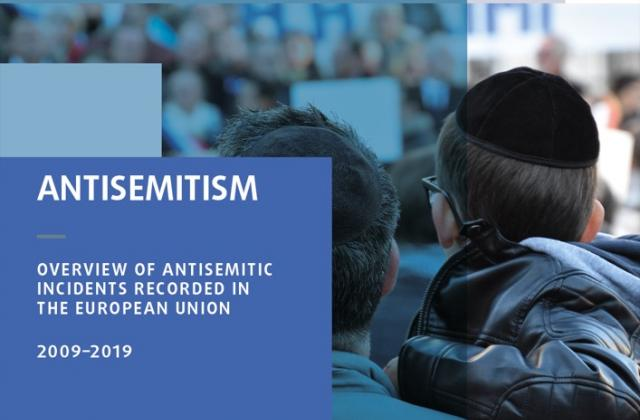 Front cover of FRA antisemitism overview 2020