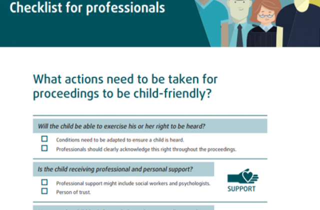 Child-friendly justice - Checklist for professionals