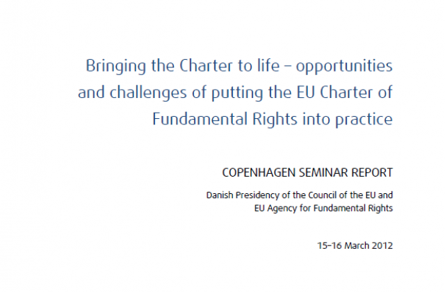 Bringing the Charter to life – opportunities and challenges of putting the EU Charter of Fundamental Rights into practice