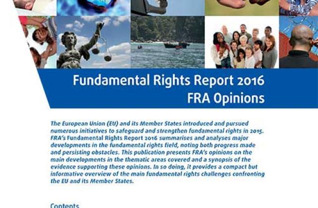 Grundrechte-Bericht 2016 - FRA Stellungnahmen
