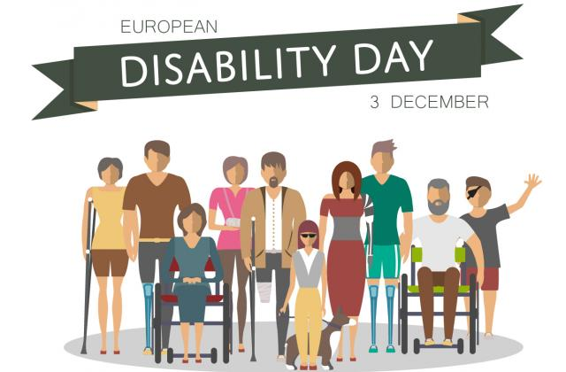 People with disabilities on European Disability Day 3 December