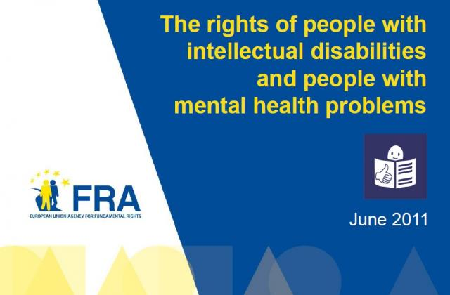 The rights of people with intellectual disabilities and people with mental health problems