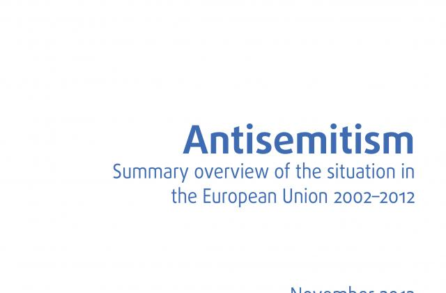 Antisemitism: Summary overview of the situation in the European Union 2001–2012