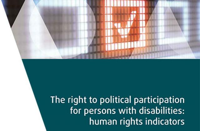 The right to political participation for persons with disabilities: human rights indicators