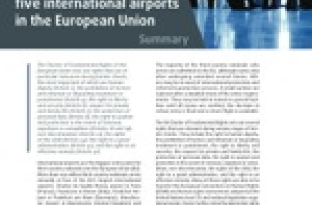 Fundamental rights at airports: border checks at five international airports in the European Union Summary