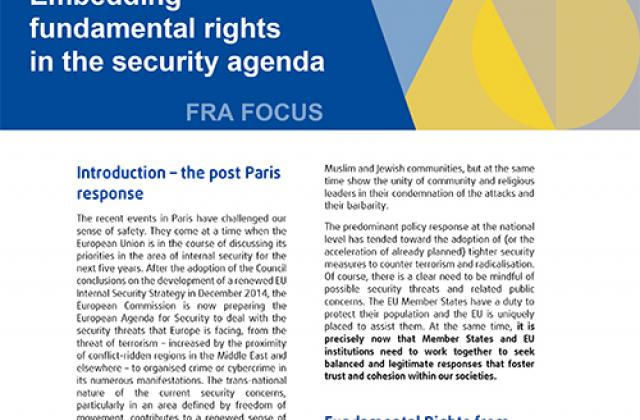 Embedding fundamental rights in the security agenda
