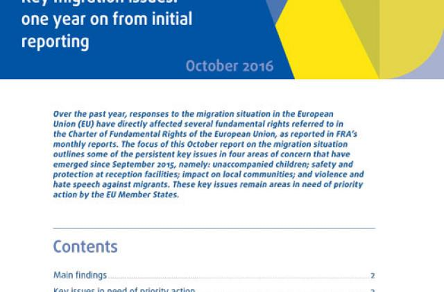 Key migration issues: one year on from initial reporting