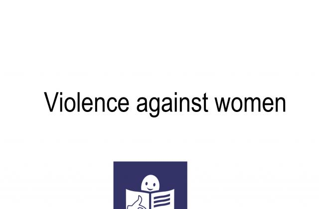 Violence against women (Easy read)