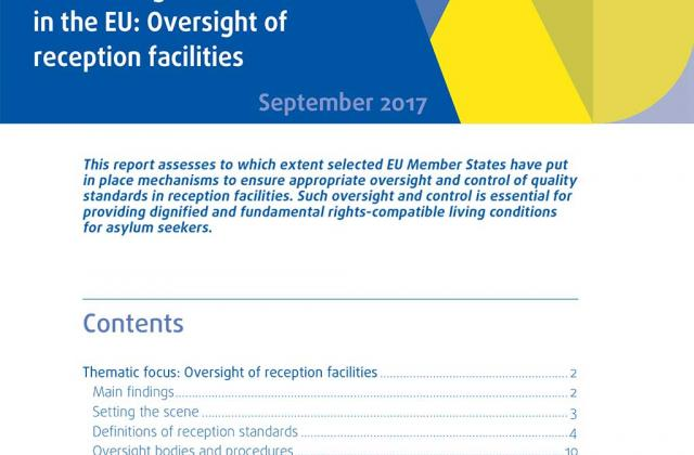 Current migration situation in the EU: Oversight of reception facilities
