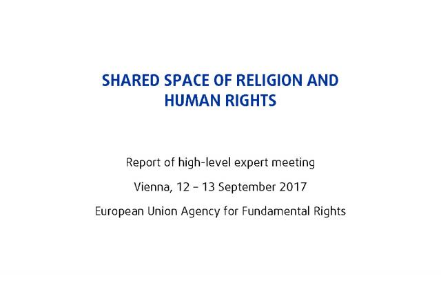 Shared space of religion and human rights - Meeting report