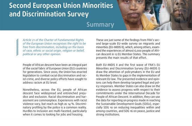 Being Black in the EU - Summary