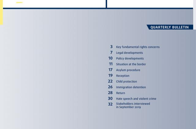 Migration: Key fundamental rights concerns - Quarterly bulletin 4