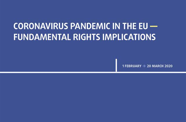 Coronavirus pandemic in the EU - Fundamental Rights Implications - Bulletin 1