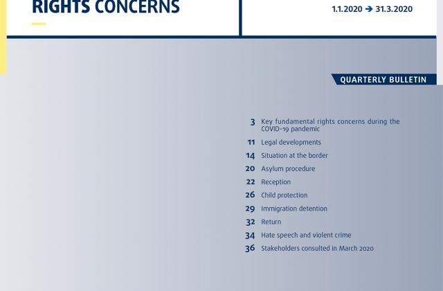 Migration: Key fundamental rights concerns - Quarterly bulletin 2 - 2020