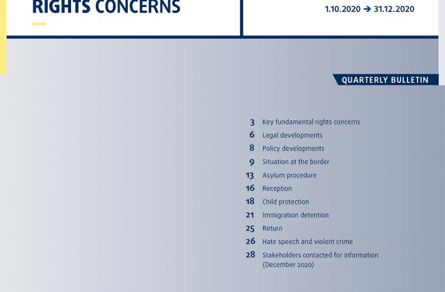 Migration: Key fundamental rights concerns - Bulletin 2021