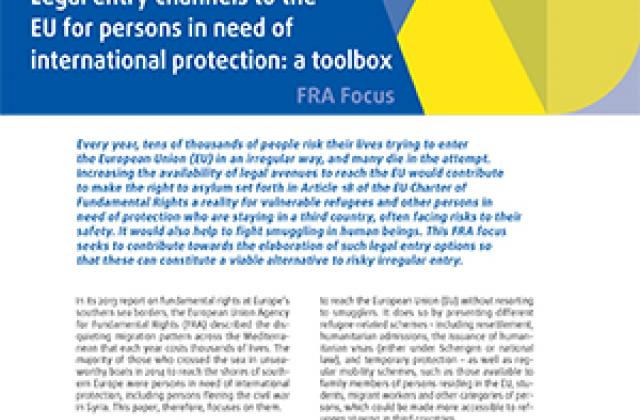 Legal entry channels to the EU for persons in need of international protection: a toolbox