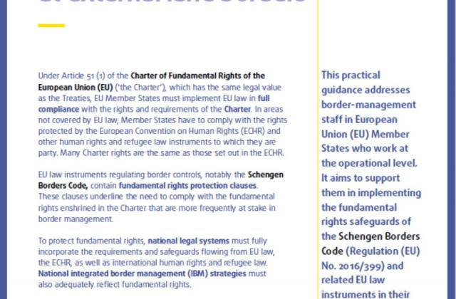 Border controls and fundamental rights at external land borders