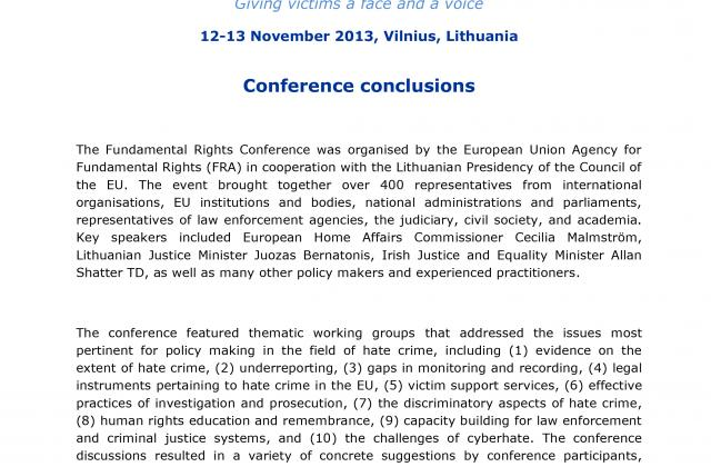 Fundamental Rights Conference 2013