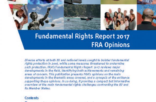 Fundamental Rights Report 2017 - FRA opinions