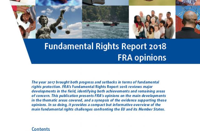 Fundamental Rights Report 2018 FRA opinions