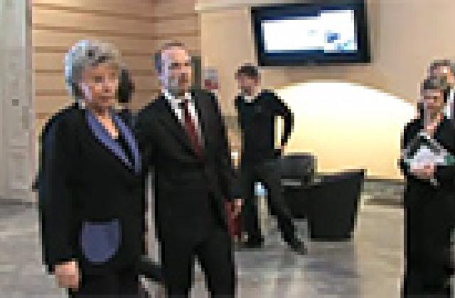 EC Vice President Viviane Reding visits the FRA