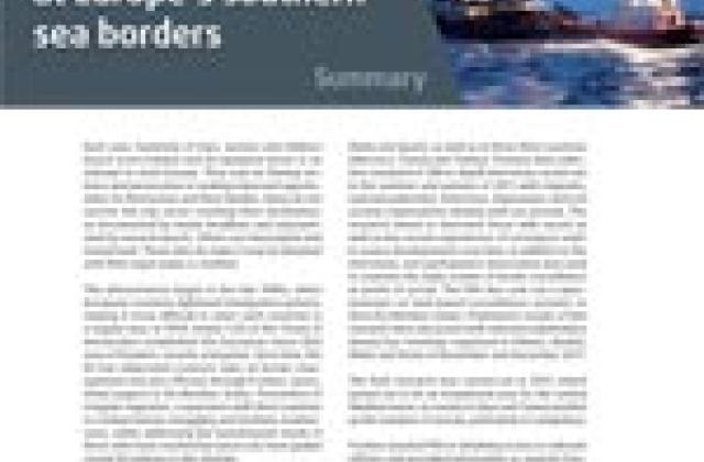 Fundamental rights at Europe's southern sea borders - Summary