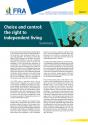Choix et contrôle : le droit à une vie autonome - Résumé